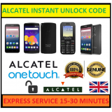 Alcatel OT-1013 Unlocking Code