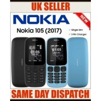 Nokia 105 Single SIM Mobile Phone UNLOCKED Black Color with FREE SIM