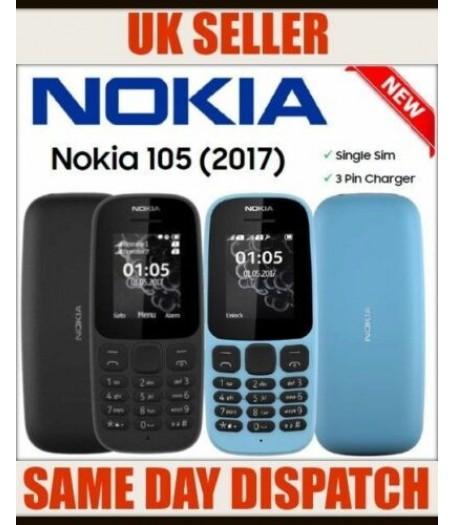 Nokia 105 Single SIM Mobile Phone UNLOCKED Blue Color with FREE SIM