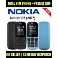 Nokia 105 Dual SIM Mobile Phone UNLOCKED Black Color with FREE SIM