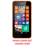 Nokia Lumia 635 Cheap Unlocking Code